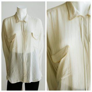 forte_forte My Shirt Off White Gold Blouse